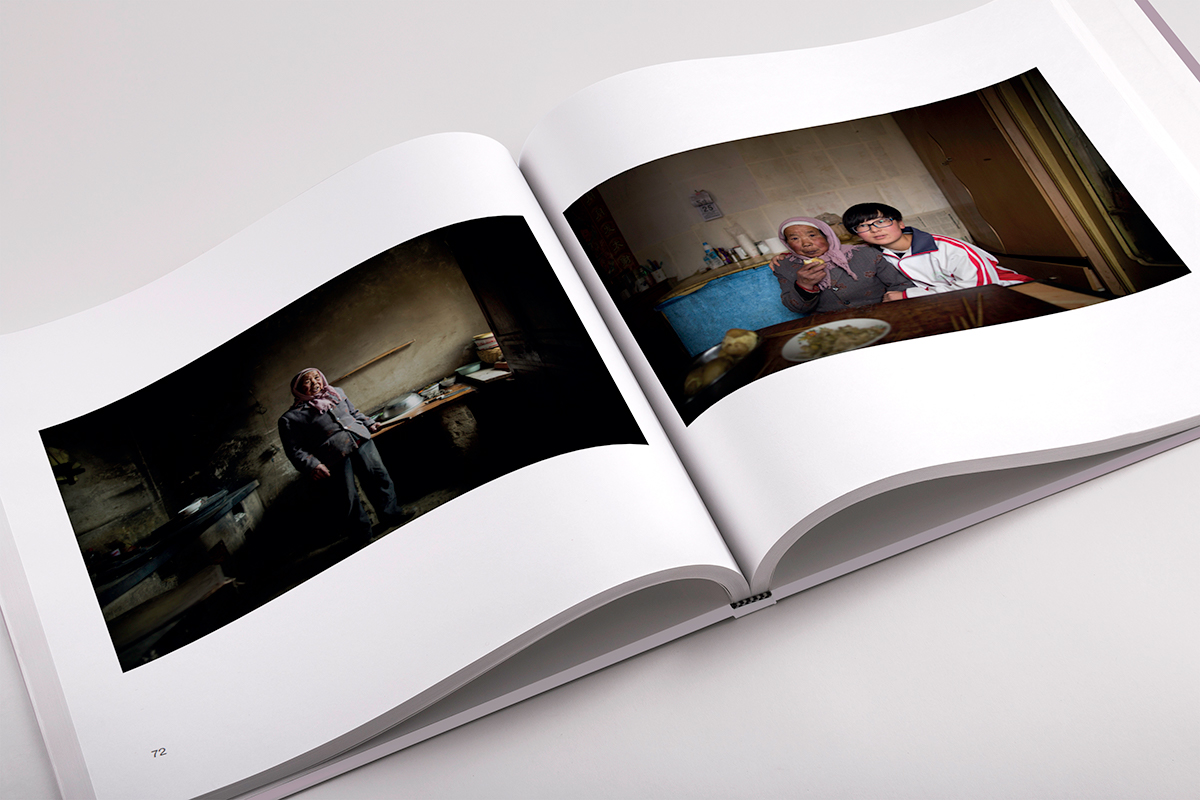 White inside pages featuring girls with their family in their homes images